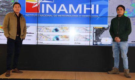 ESTUDIANTES PERUANOS REALIZAN PRÁCTICAS PRE-PROFESIONALES EN EL INAMHI