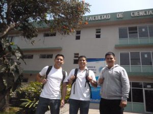 Foto Izq. a Der . Davy Carrión, Arturo Soto y Benito Aroca